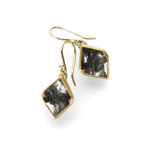 Gabriella Kiss Black Lacy Diamond Earrings | Quadrum Gallery