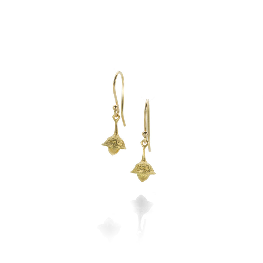 Gabriella Kiss Gold Eucalyptus Seed Bell Earrings | Quadrum Gallery