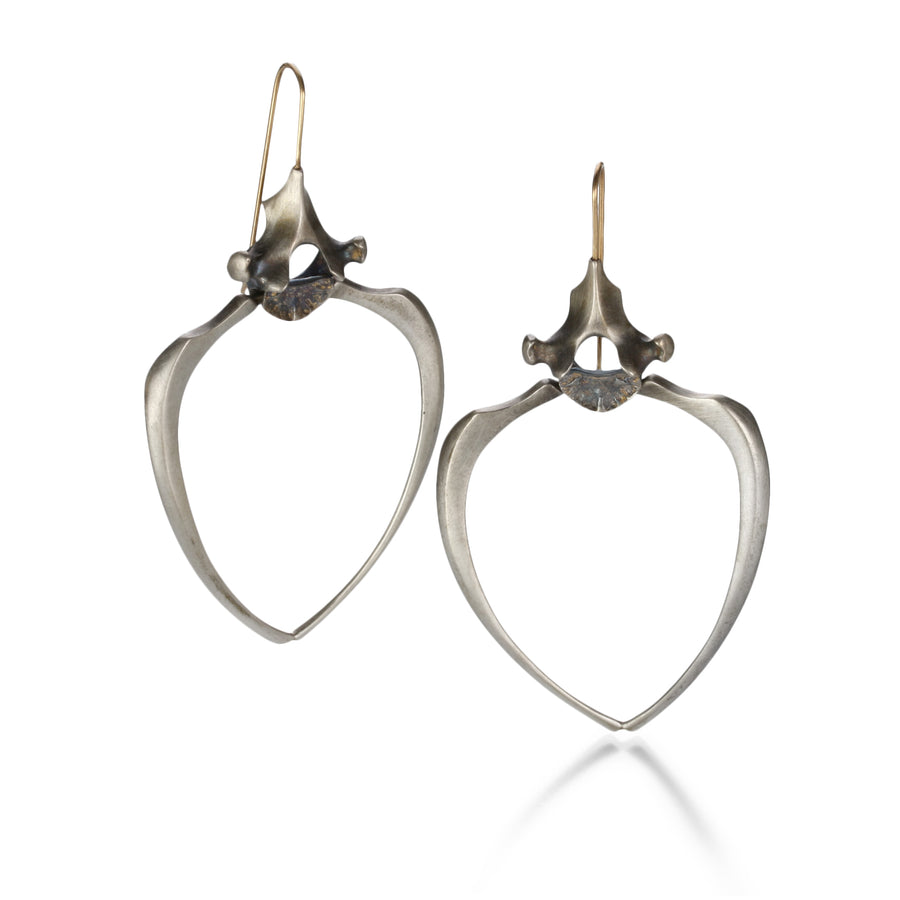 Gabriella Kiss Small Silver Racoon Rib Earrings | Quadrum Gallery