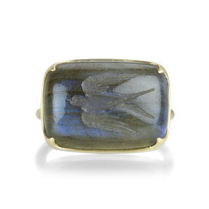 Gabriella Kiss Labradorite Swallow Intaglio Ring | Quadrum Gallery