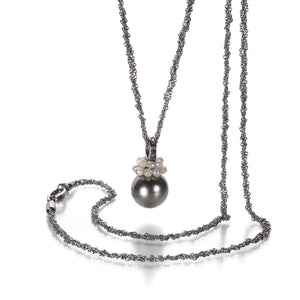 Gellner Gray Tahitian Pearl and Diamond Necklace | Quadrum Gallery