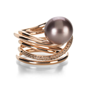 Gellner Rose Gold Tahitian Pearl Ring | Quadrum Gallery