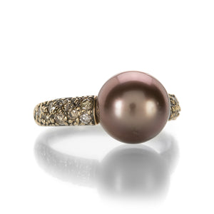 Gellner Brown Pearl and Brown Diamond Ring | Quadrum Gallery