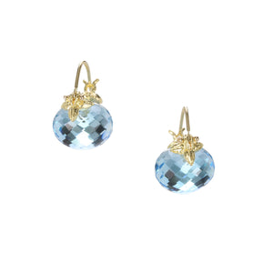 Gabrielle Sanchez Swiss Blue Topaz Flyer Earrings | Quadrum Gallery