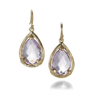 Gabrielle Sanchez Teardrop Amethyst Earrings | Quadrum Gallery