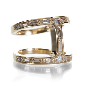 Hoorsenbuhs Yellow Gold Dame Phantom Diamond Ring | Quadrum Gallery
