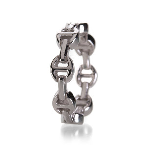Hoorsenbuhs White Gold Dame Tri-Link Ring | Quadrum Gallery