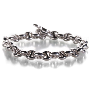 Hoorsenbuhs Open Link Bracelet with White Diamonds | Quadrum Gallery