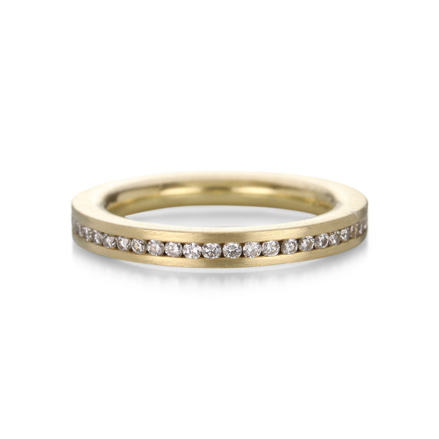 Henrich + Denzel Straight Edge Channel Set Diamond Ring  | Quadrum Gallery