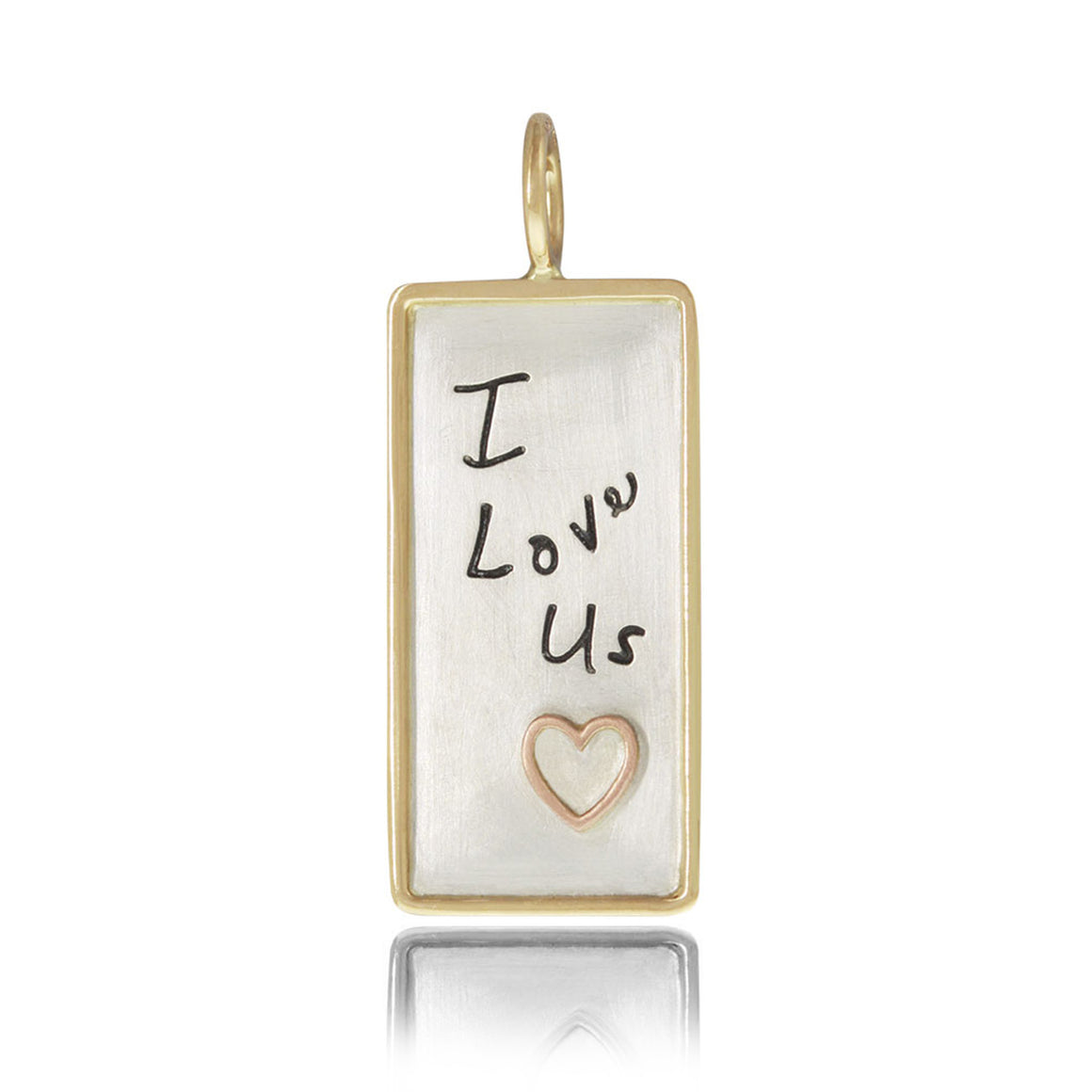 """I Love Us"" ID Charm"