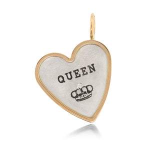 "Heather Moore ""Queen"" Heart Charm 