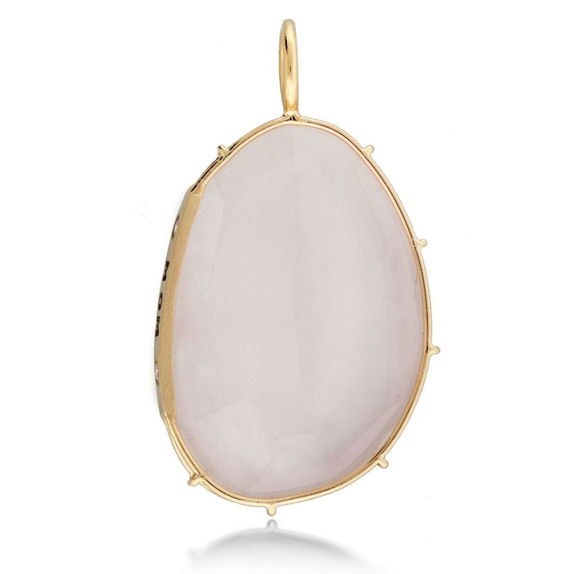 "Heather Moore Rose Quartz ""Mom"" Harriet Pendant 