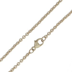 Heather Moore 2mm White Gold Chain- 24"
