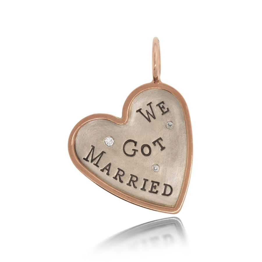 "Heather Moore ""We Got Married"" Charm 