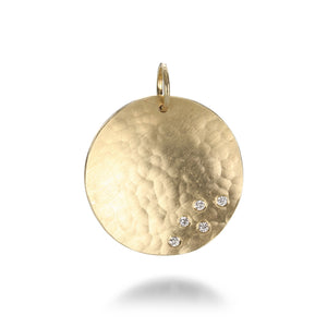 Julez Bryant Round Pendant with Five Diamonds | Quadrum Gallery