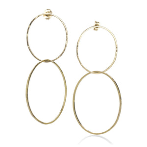 Julez Bryant Yellow Gold Double Hoop Earrings | Quadrum Gallery