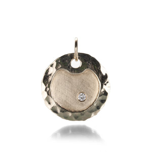 Julez Bryant Medium Round Dog Tag with Diamond | Quadrum Gallery