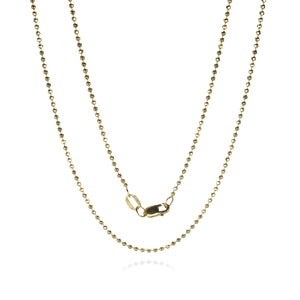 Julez Bryant Yellow Gold 1.8mm Ball Chain - 18"