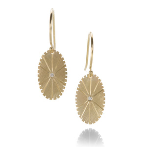 Julez Bryant Yellow Gold Coin Medallion Earrings | Quadrum Gallery