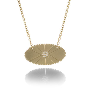 Julez Bryant Oval Coin Medallion Necklace | Quadrum Gallery