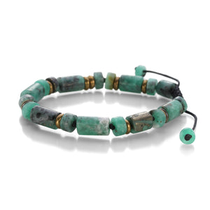 Joseph Brooks Colombian Emerald and Brass Bracelet | Quadrum Gallery