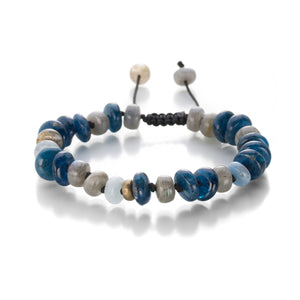 Joseph Brooks Labradorite, Aquamarine, and Apatite Bracelet | Quadrum Gallery