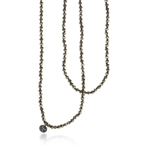 "Joseph Brooks 30"" Faceted Pyrite Necklace 