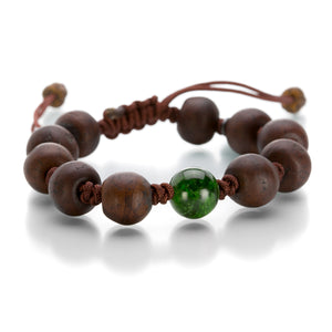 Joseph Brooks Tibetan Prayer Bracelet with Chrome Diopside | Quadrum Gallery