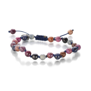 Joseph Brooks 6mm Blue & Pink Sapphire Bracelet | Quadrum Gallery