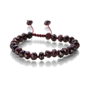 Joseph Brooks 8mm Faceted Garnet Bracelet | Quadrum Gallery