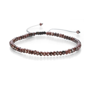 Joseph Brooks 4mm Faceted Garnet Bracelet | Quadrum Gallery