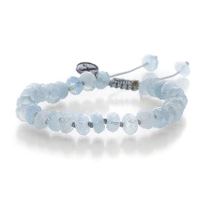 Joseph Brooks 8mm Faceted Circle Aquamarine Bracelet | Quadrum Gallery