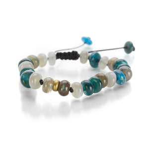 Joseph Brooks Apatite, Moonstone and Labradorite Bracelet | Quadrum Gallery
