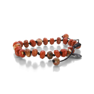 Joseph Brooks 8mm Faceted Red Jasper Bracelet | Quadrum Gallery
