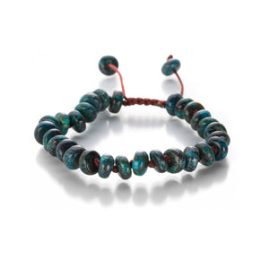 Joseph Brooks Congo Smooth Chrysocolla Bracelet | Quadrum Gallery