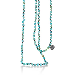 Joseph Brooks 3mm Arizona Turquoise Barrel Bead Necklace | Quadrum Gallery