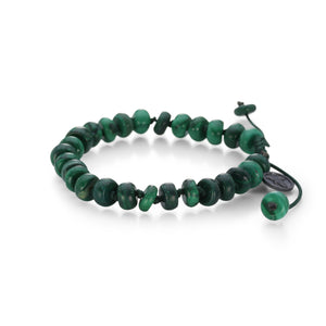 Joseph Brooks 8mm Smooth Malachite Bracelet | Quadrum Gallery
