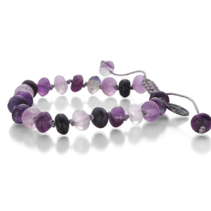 Joseph Brooks 8mm Purple Flourite Bracelet | Quadrum Gallery