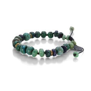 Joseph Brooks Chrysocolla, Malachite and Azurite Bracelet | Quadrum Gallery
