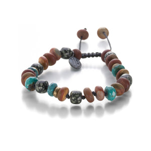 Joseph Brooks 8mm Jasper and Turquoise Bracelet | Quadrum Gallery