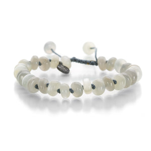 Joseph Brooks 8mm Smooth Gray Moonstone Bead Bracelet | Quadrum Gallery