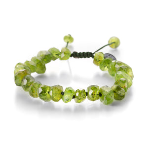 Joseph Brooks 9mm Peridot Crystal Bead Bracelet | Quadrum Gallery