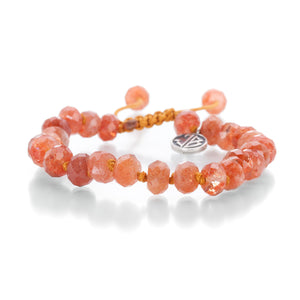 Joseph Brooks 8mm Orange Sunstone Bead Bracelet | Quadrum Gallery