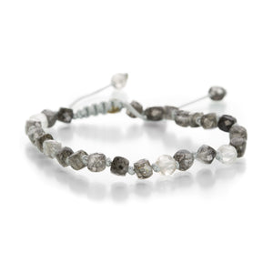 Joseph Brooks 3mm Faceted Rutilated Quartz Bracelet | Quadrum Gallery