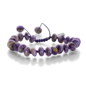 Joseph Brooks 8mm Charoite Bead Bracelet | Quadrum Gallery