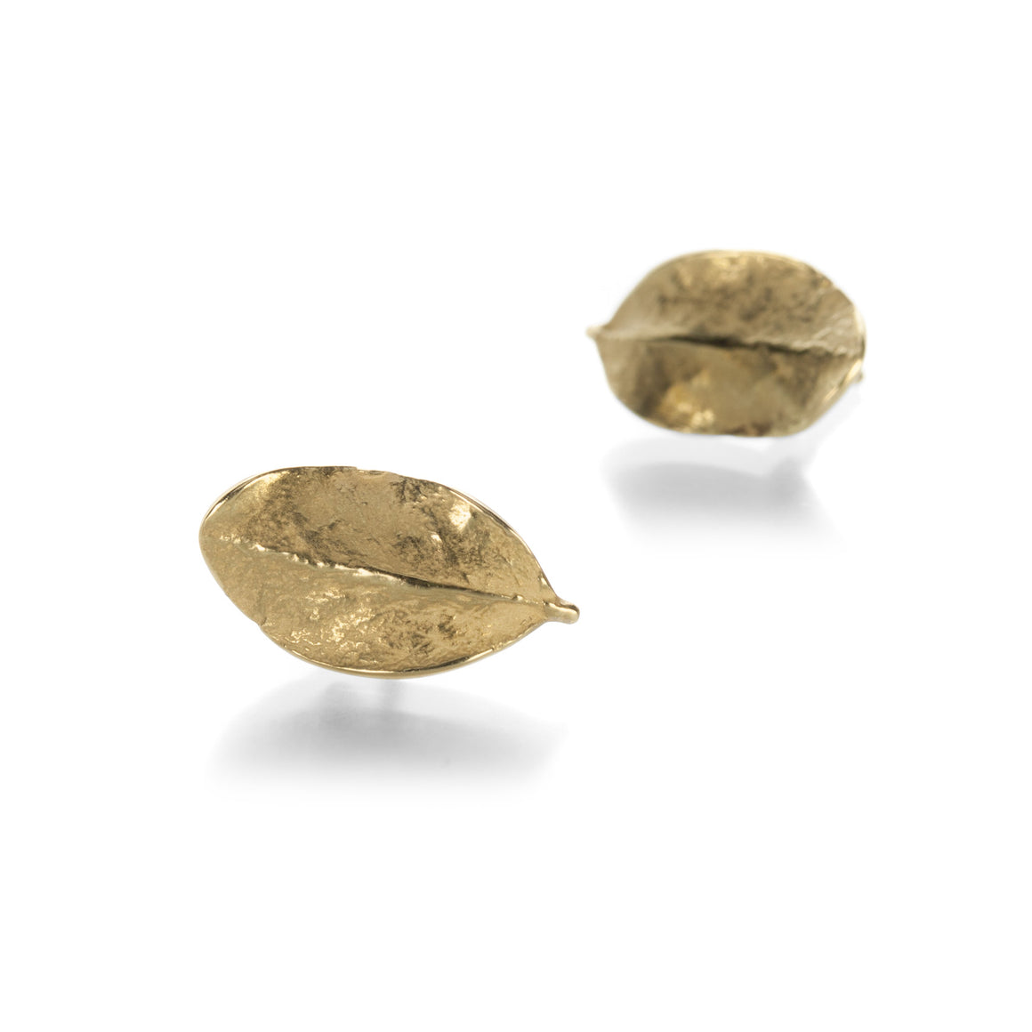 John Iversen Tiny Boxwood Leaf Studs | Quadrum Gallery