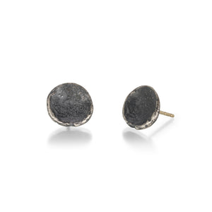 John Iversen Oxidized Anemone Stud Earrings | Quadrum Gallery