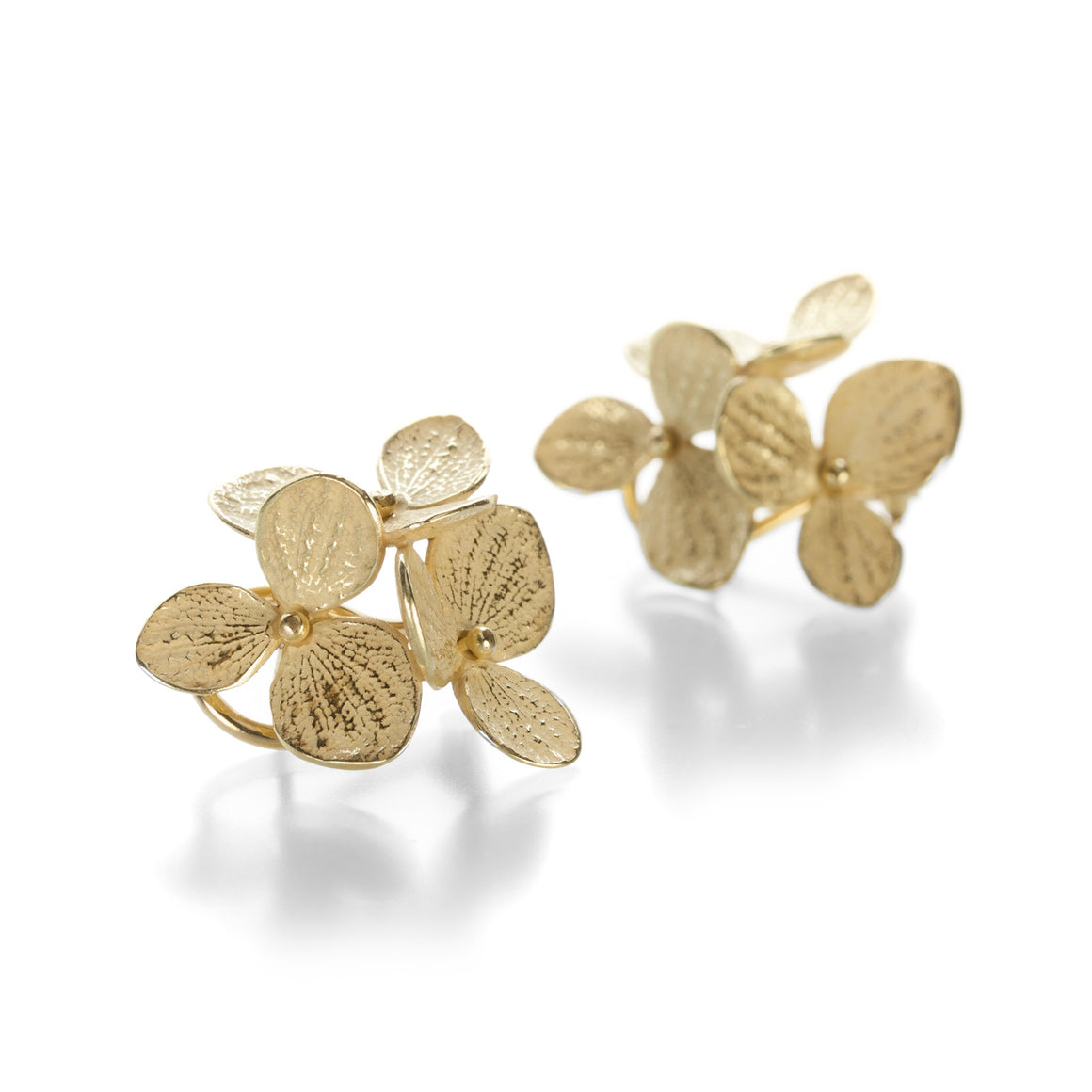 John Iversen Three Part Large Hydrangea Studs | Quadrum Gallery