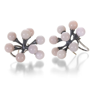 John Iversen Pink Opal Single Jacks Earrings | Quadrum Gallery