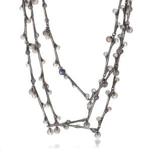 John Iversen Labradorite Willow Necklace | Quadrum Gallery